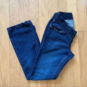 Low Rise Knit Panel Maternity Jeans Size 4